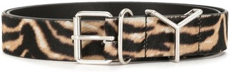 Y/Project Tiger Print Calf Leather Belt