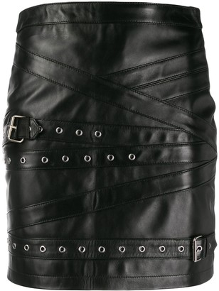 Manokhi double buckle skirt