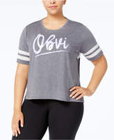 Soffe Plus Size Mesh-Back Graphic T-Shirt