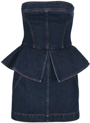 Philosophy di Lorenzo Serafini Peplum Bustier Mini Dress
