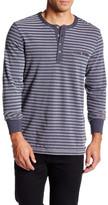 Jeremiah Cillian Jersey Pique Stripe Henley Shirt