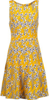 Oscar de la Renta Printed silk-crepe dress
