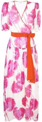 Diane von Furstenberg floral wrap maxi dress