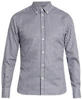 MAISON KITSUNÉ Fox fil coupé checked cotton shirt