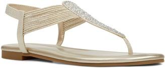 Bandolino Pull On T Strap Flat Sandals - Kayte