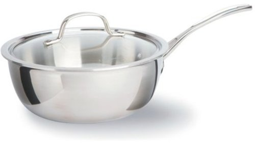 Calphalon 3-qt. Stainless Steel Tri-Ply Stainless Steel Chef's Pan