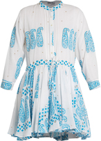 Juliet Dunn Paisley-print cotton dress
