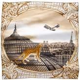 Cartier Odyssey Panther Motif Silk Scarf
