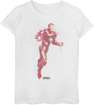 Iron Man Licensed Character Girls 7-16 Marvel Avengers Endgame Spray Paint Tee