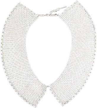 Alessandra Rich Silver-Tone Crystal Necklace