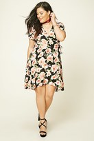 Forever 21 FOREVER 21+ Plus Size Floral Wrap Dress