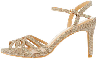 Under Armour Lucy Glitter Textile Occasion Sandals Gold