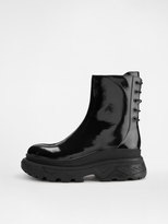 DKNY Ainsley Patent Platform Work Boot