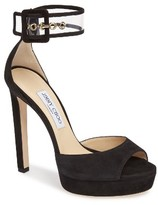 Jimmy Choo Women's Mayner Ankle Cuff Platform Sandal