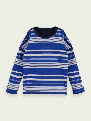 Scotch & Soda Cotton-blend long sleeve reversible pullover | Boys