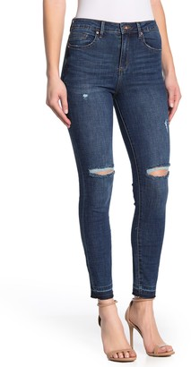 Tractr Heidi Mid Rise Ankle Jeans