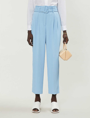 Sandro Ceny high-waisted twill trousers