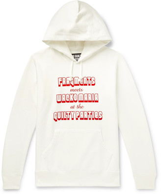 Wacko Maria + Fragment Printed Loopback Cotton-Jersey Hoodie