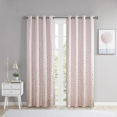 Intelligent Design Liv Total Blackout Printed Metallic Window Curtain