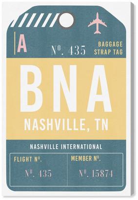 "Oliver Gal Artist Co. 'Nashville Luggage Tag' Canvas Art, 10""x15"""