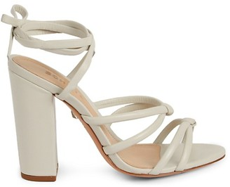 Schutz Lohanna Leather Block Heel Sandals