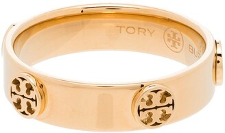 Tory Burch Multi-Logo Band Ring