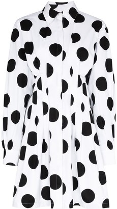 Carolina Herrera Large Polka Dot Shirt Dress