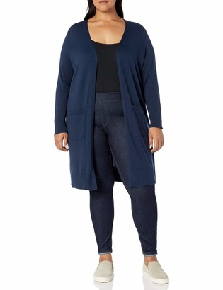 Amazon Essentials Women's Plus Size Lightweight Longer Length Cardigan Sweater