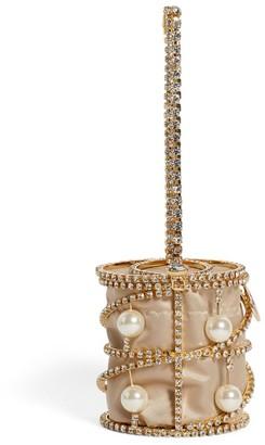 Rosantica Mini Pearl-Embellished Bagliore Top-Handle Bag