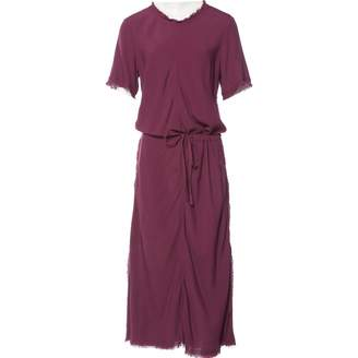 Hache Purple Viscose Dresses
