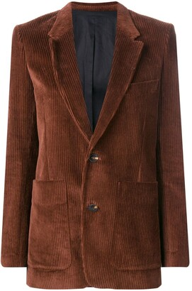 Ami Single-Breasted Blazer Jacket