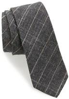 BOSS Men's Check Wool Blend Skinny Tie