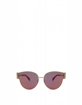 Moschino Bijou Chain Metal Sunglasses Woman Gold Size Single Size