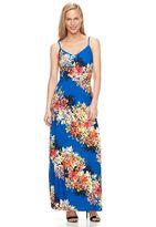 Petite Suite 7 Floral Striped Maxi Dress