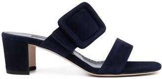 Manolo Blahnik Gable buckled suede sandals