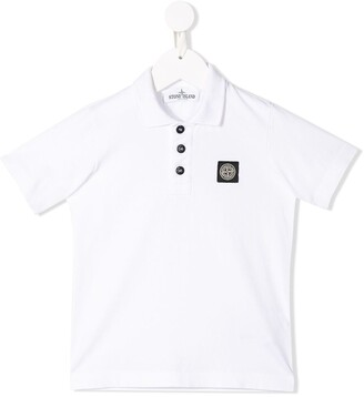 Stone Island Junior logo patch polo top