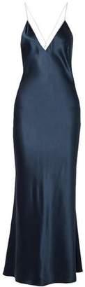La Ligne Boudoir Silk-satin Maxi Dress