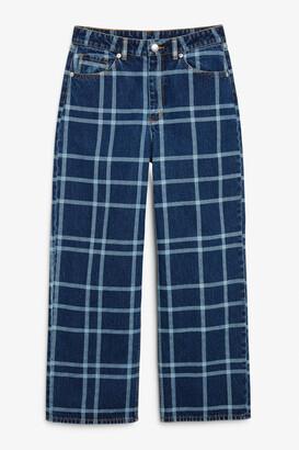 Monki Mozik check jeans