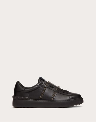 Valentino Rockstud Untitled Noir Calfskin Leather Sneaker Women Black Calfskin 100% 37