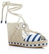 Salvatore Ferragamo Evita Espadrille Platform Wedge Sandals