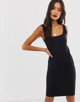 Noisy May square neck rib dress