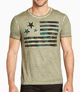 William Rast Camo Flag Short-Sleeve Graphic T-Shirt