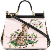 Dolce & Gabbana Sicily Zambia cat shoulder bag