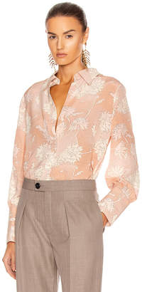 Chloé Floral Blouse in Cloudy Rose | FWRD
