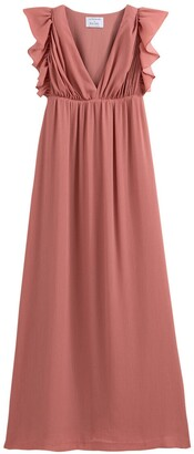 Balzac Paris X La Redoute Collections Ruffled Sleeveless Maxi Dress