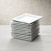 """Crate & Barrel Set of 12 Boxed 6"""" Appetizer Plates"""