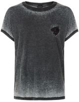 Just Cavalli Faded Lion Badge T-shirt