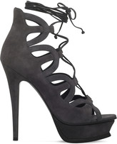 Saint Laurent Tribute 16 105 ghillie suede heeled sandals