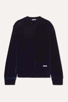 JuJu Blouse BLOUSE Velour Sweatshirt - Navy