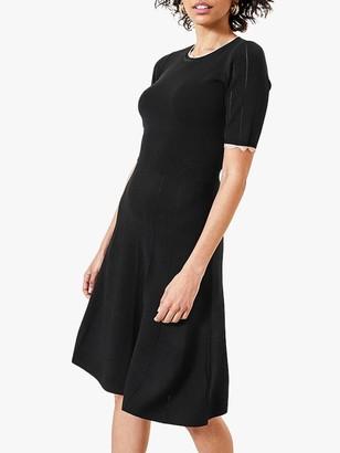 Oasis Contrast Trim Dress, Black